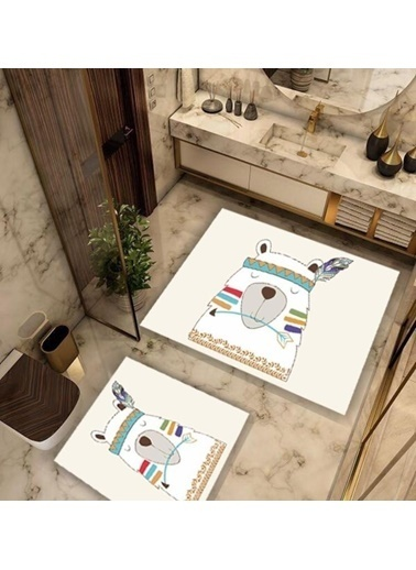 Soley Bear Djt. 2 Li Banyo Paspas Seti Klozet Takımı Renkli